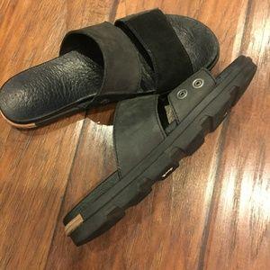 Sorel Torpeda 2 Leather and Suede Slip On Slides